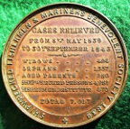 Shipwrecked Fishermen & Mariners Benevolent Society, bronze medal