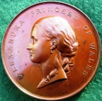 Kent, Home for Little Boys, Hanbury prize medal 1874, bronze, by JS & AB Wyon
