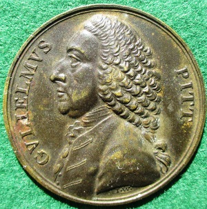 William Pitt, Repeal of the Stamp Act 1766, bronze medal