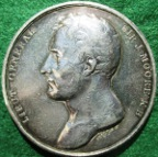 Sir John Moore, death at Corunna 1809, silvered white metal medal by Mills