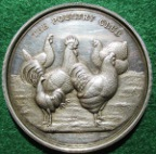 The Poultry Club, silver prize medal 1925, by JA Restall