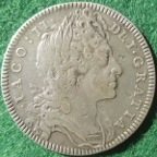 James II & Prince James, the Legitimacy of the Jacobite Succession 1699, silver medal by Norbert Roettier