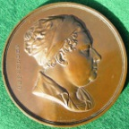 London, St Thomas's Hospital, William Cheselden, The Cheselden Prize Medal circa 1845, bronze, by W Wyon