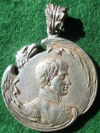 Napoleon II, 'L'Aiglon' badge 1900, silvered-bronze medal