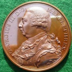 George III, Victories of the Year 1798, bronze medal by Conrad Kuchler