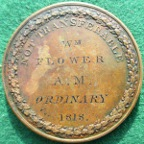 Magistrate's Medal of Admission 1818, named to William Flower, by Younge & Deakin