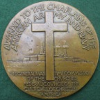 USA, Army & Navy Chaplain's Medal (1920), bronze medal by Laura Gardin Fraser