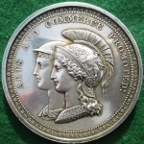 London, Royal Society of Arts Instituted 1753, Mercury and Minerva silver prize medal awarded 1830 to Felix Feuillet, by W Wyon