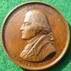 Art Union of London, Thomas Gainsborough, bronze medal 1859 by E Ortner after J Zoffany,
