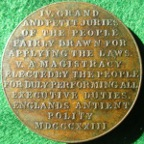 """The Rights of the People"" 1823, bronze medal,"