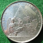 Admiral Nelson & The Battle of the Nile 1798, white metal medal by T Wyon