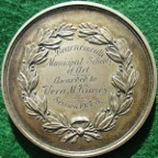 Art Prize Medal, Bournemouth Municipal School of Art, silver prize medal by Pinches, awarded 1908