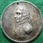 Admiral Nelson, Nelsonic Crimson Oakes Friendly Society 1808, silver membership medal
