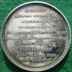 Southwark (London), Charles Calvert MP, death 1832, silver medal by W Wyon