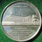 The Great Exhibition, Crystal Palace 1851, white metal medal by Allen & Moore