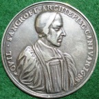 William Sancroft, Archbishop of Canterbury, and the Seven Bishops against James II's 'Declaration of Indulgence' 1688, cast silver medal