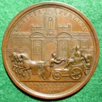 George II entry into London 1714 medal