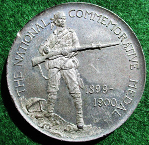 "Boer War, ""The Absent Minded Beggar"" medal 1900, white metal"