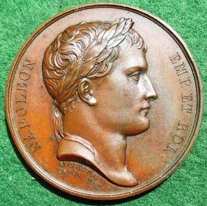 Napoleon, Nice to Rome road 1807, medal