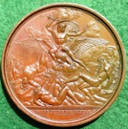 Napoleon Battle of Jena 1806, bronze medal Galle