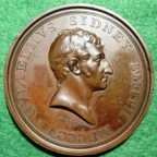 Shakespeare medal to Sir Alured  Clarke, a British Army commander in the American War of Independence
