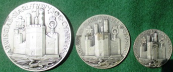 Prince Charles Investiture medal set 1969, silver