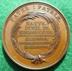 George III death 1820, bronze medal by Kuchler