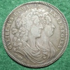 William and Mary, Coronation 1689, the official medal in silver by J Roettie