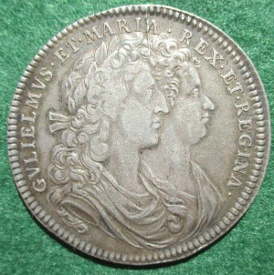William & Mary Coronation medal 1689