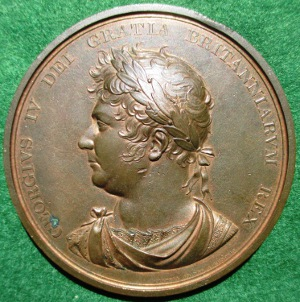 George IV, Accession 1820, large bronze medal Runndell