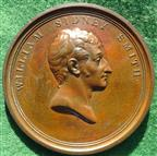 Sir Sidney Smith, President of the Reunion of the Knights of the White Slaves of Africa 1816, bronze medal