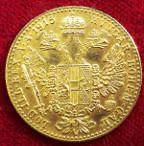 Austria, Franz Joseph I, restrike fine gold trade Ducat dated 1915