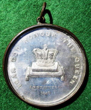 Hampshire, Fareham, Trinity Benefit Society, established 1840, white metal medal