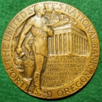 Portland (Oregon), United States National Bank, 1929 medal by Fairbanks