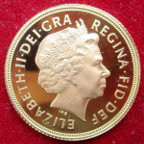 Elizabeth II, proof Sovereign 2005 (new reverse)