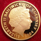 Guernsey, Elizabeth II, gold proof 25-Pounds 2004