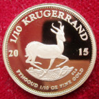 South Africa, proof gold 1/10-Krugerrand 2015