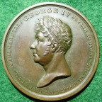 George IV bronze Coronation medal 1821