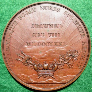 William IV Coronation 1831, large bronze medal