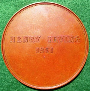 Theatre Henry Irving medal 1891 BHM 3416