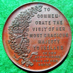 Ireland, Visit of Queen Victoria 1900, bronze medal by F Bowcher