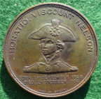 Admiral Nelson, HMS Foudroyant, copper medal 1897