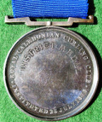 Royal Caledonian Curling Club, Instituted 1838, silver District Medal