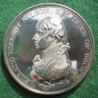 The Battle of Trafalgar, Boulton's Medal, a silver resrike from the original Küchler dies by Pinches 1966