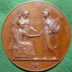 Sardinia, visit of Victor Emmanuel II to London1855, bronze