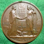Great Britain/ Turkey, visit of Sultan Abdul Aziz to the City of London 1867, large bronze medal by JS & AB Wyon