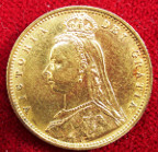 Victoria, gold Half-Sovereign 1892