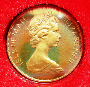 Isle of Man, Elizabeth II, gold proof Half-Sovereign 1979