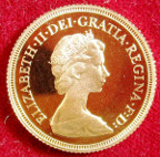 Elizabeth II, proof gold Sovereign 1979