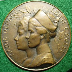 Great War, Cavell & Depage medal 1915